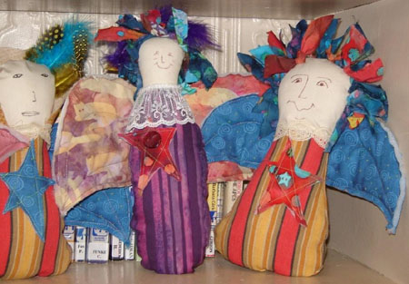 Photo of dolls made at one workshop