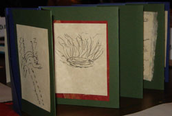 Photo of double accordion book made at one workshop