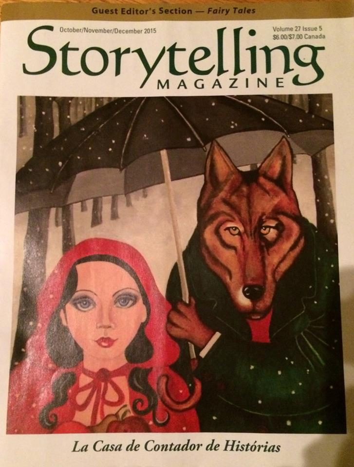 photo of cover of Oct 2015 issue of Storytelling Magazine